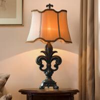 美式台灯卧室床头灯 复古乡村田园欧式台灯奢华书房古典灯