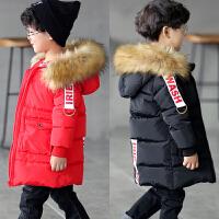 **儿童装加绒加厚棉衣男童中长款保暖外套2018冬装新