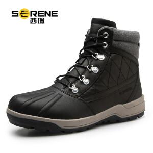 西瑞靴子男士高帮户外皮靴保暖棉靴沙漠短靴防滑雪地靴秋冬季新款3285