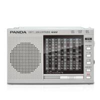熊猫/PANDA 6122 收音机 全波段便携式指针外放插卡老人迷你半导体