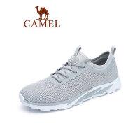 camel骆驼男鞋2019春季新款透气网布慢跑鞋男潮流运动平底休闲学生鞋子