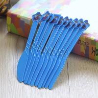 【支持礼品卡】节庆派对装扮塑料刀叉勺 一次性餐具吃蛋糕道具 甜品用品装饰 r9u
