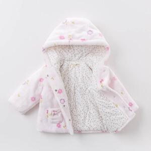 davebella戴维贝拉冬季外套 宝宝夹棉印花保暖外套DB6131
