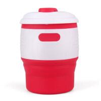 折叠式便携硅胶水杯随身伸缩创意出差茶杯漱口杯户外旅行咖啡杯