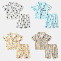 儿童家居服套装宝宝薄款夏装童装男童短袖睡衣