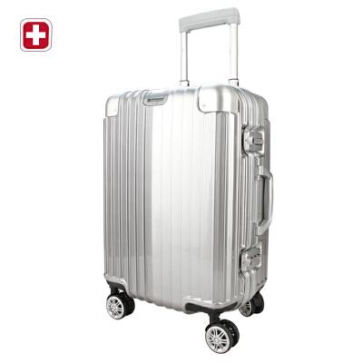 瑞士军刀24寸拉杆箱男女全铝万向轮拉杆箱旅行箱高端上档次登机箱BX4911闪电发货 支持货到付款  (礼品卡支付)