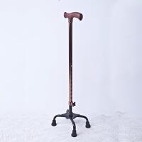 拐杖 四脚手杖不锈钢拐棍 老人铝合金/不锈钢可调节四角拐杖 铝合金四角