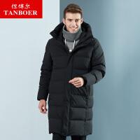 坦博尔羽绒服男士长款个性2018新款时尚保暖外套 TA18793