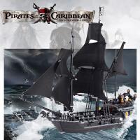 乐高加勒比海盗船黑珍珠号模型成年高难度拼装积木男孩子益智玩具