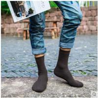 袜子男士冬季纯色加厚保暖毛巾秋冬款加绒中筒吸汗毛圈长筒纯棉袜