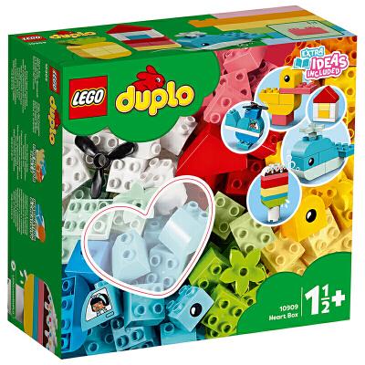 【当当自营】LEGO乐高积木 得宝系列10909 DUPLO 2020年1月新品1岁+ 心形创意积木盒