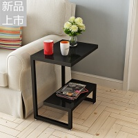 简约客厅小茶几边角桌迷你角柜沙发柜边柜玻璃小边几角几卧室边桌定制 黑色+黑色 宽35长50