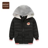 【3件3折 折后108元】BINPAW童装男童棉服外套 2018冬装新款儿童加厚保暖帅气夹克棉衣