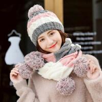 时尚潮女士帽子 韩版少女甜美可爱针织帽 百搭保暖加绒加厚毛线帽子