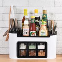组合刀架多功能厨房置物架调味盒调料罐瓶收纳架储物架筷子收纳盒 r6x