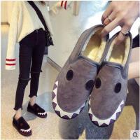 雪地靴女新款秋冬季韩版时尚加绒保暖面包鞋女学生一脚蹬棉鞋