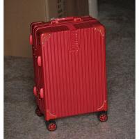 新 ABS pc拉杆箱铝框旅行箱行李箱密码箱硬箱加厚款万向轮
