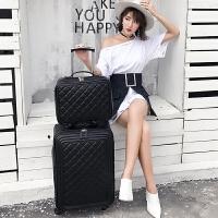 拉杆箱子母箱行李箱男 潮韩版旅行箱皮箱女登机箱万向轮 经典黑色