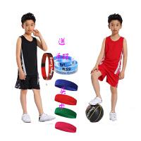 新款儿童篮球服套装男女童运动比赛球衣队服小学生夏季背心球服