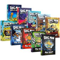 英文原版小说 Dog Man 7册精装漫画书 Captain Underpants同作者 英文版 神探狗狗的冒险 内裤