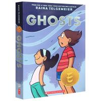 现货正版 幽灵 英文原版 儿童英语漫画小说 Ghosts 姐妹 微笑作者 全彩 全英文版进口英语书籍