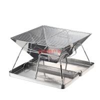 不锈钢折叠烧烤炉烤架焚火台烤肉架BBQ加厚炉体烤炉加厚碳烤篝火节省木炭