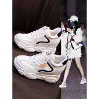 户外运动鞋女内增高单网透气网面春款女鞋厚底休闲小白鞋