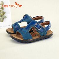 红蜻蜓童鞋新款沙滩鞋时尚透气露趾舒适男童儿童凉鞋511L62308X