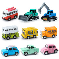 儿童玩具车合金回力车消防车挖掘机工程车套装宝宝小汽车玩具男孩