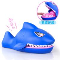 儿童创意整蛊整人鳄鱼玩具 咬手指鲨鱼玩具按牙齿咬人游戏