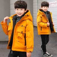 冬装男孩6中大童8韩版冬季12保暖棉袄15岁儿童装男童棉衣