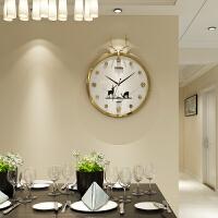 现代简约时钟个性创意大气装饰墙石英钟欧式钟表挂钟客厅家用时尚