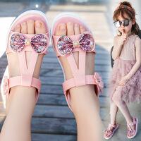 儿童凉鞋女夏季时尚中大童沙滩鞋女童软底韩版小女孩童鞋