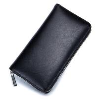 卡包男多卡位真皮大容量手拿钱包女式长款卡片包一体韩国