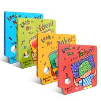 Look At Me Mask Book 趣味面具书4本套装 哈佛教育专家吴敏兰重点读物!I'm A Monster! I'm a robot! I'm a clown! I'm an Alien!
