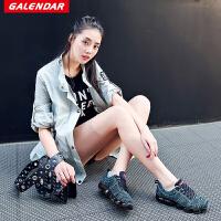 【满100减50/满200减100】Galendar女子跑步鞋全掌气垫减震校园女生运动休闲跑步鞋FLA56