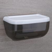 大卷纸盒 厕所纸巾盒卷纸筒抖音卫生间抽纸巾架壁挂防水大号多功能免打孔