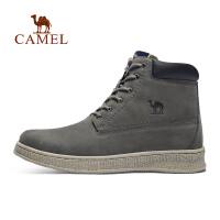 camel骆驼户外男靴 户外运动休闲鞋时尚耐磨牛皮男靴