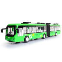 嘉业独立包装仿真城市空调电车 儿童合金公交车大巴汽车模型玩具