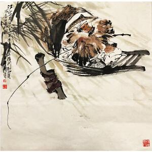 王涛《江钓》著名画家