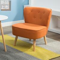 单人沙发简约现代北欧阳台卧室客厅布艺沙发椅休闲懒人迷你小沙发定制