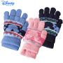 迪士尼儿童手套冬款五指保暖手套男童两用五指全指针织手套