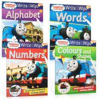 顺丰包邮 英文原版 Thomas and Friends 托马斯和朋友 Wipe and Write 4本套装 可擦写
