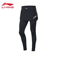 李宁裙裤女士2020新款跑步系列女士时尚假两件针织运动裤ASKQ004