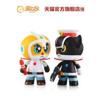 淘公仔黑猫警长套装动漫人偶车载摆件手办模型儿童玩具生日礼物