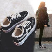 新款加绒帆布鞋二棉鞋韩版百搭学生鞋户外运动板鞋女鞋潮