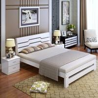 木床1.5米单人床1.2m松木床双人床1.8米大床简易床 1350mm*2000mm 框架结构