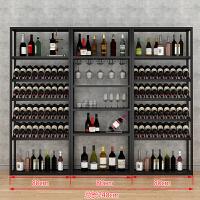 20190704052303296复古欧式铁艺酒架酒吧落地酒柜葡萄酒红酒收纳展示架酒杯架