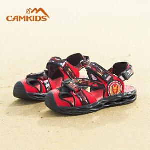 camkids垦牧女童鞋2018夏季款儿童凉鞋中大童漫威男童包头沙滩鞋