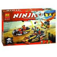 欢乐童年-兼容乐高式10444幻影忍者Ninjago双忍出击机车追捕70600拼装积木玩具